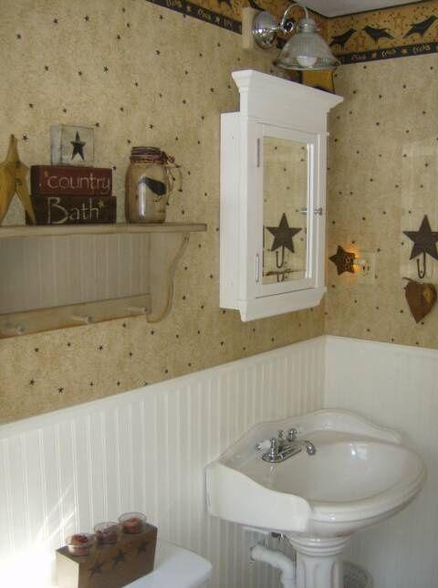 Awesome Primitive Bathroom Decor | Primitive Bath Decor | Primitive