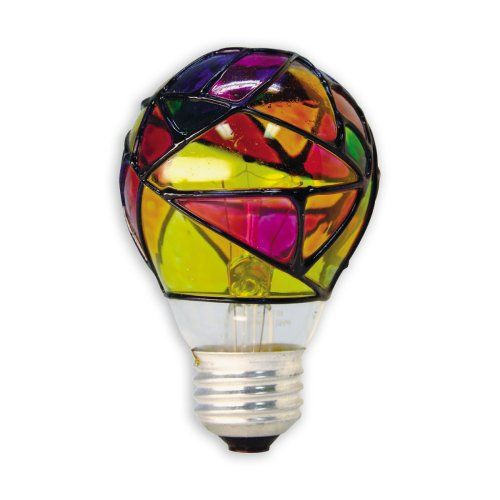 Set A Different Mood With A Stained Glass Light Bulb    ---  from InventorSpot.com --- for the coolest new products and wackiest inventions.