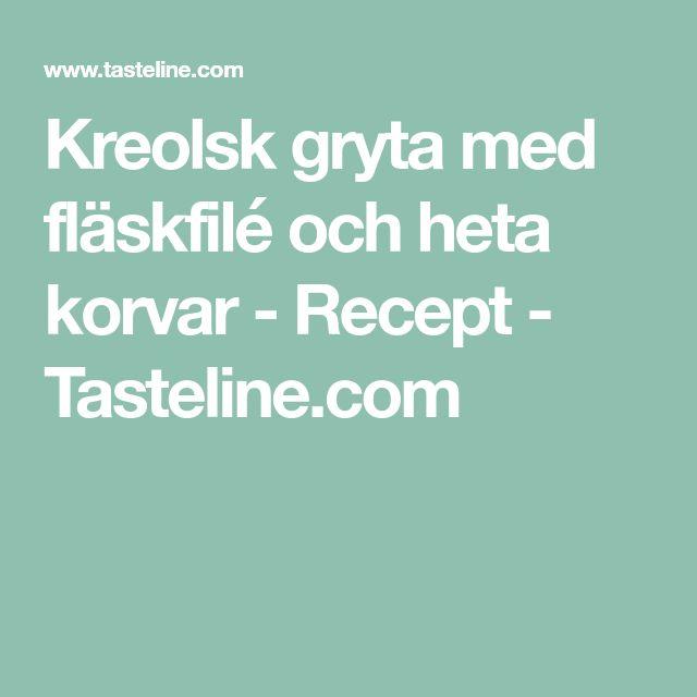 Kreolsk gryta med fläskfilé och heta korvar - Recept - Tasteline.com