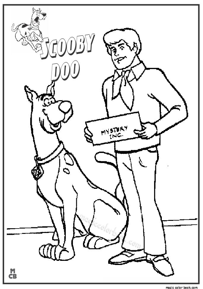 28 best Scooby Doo Coloring pages freec images on Pinterest
