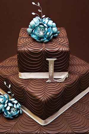 Buttercream Wedding Cake for the bride that just has to have her chocolate