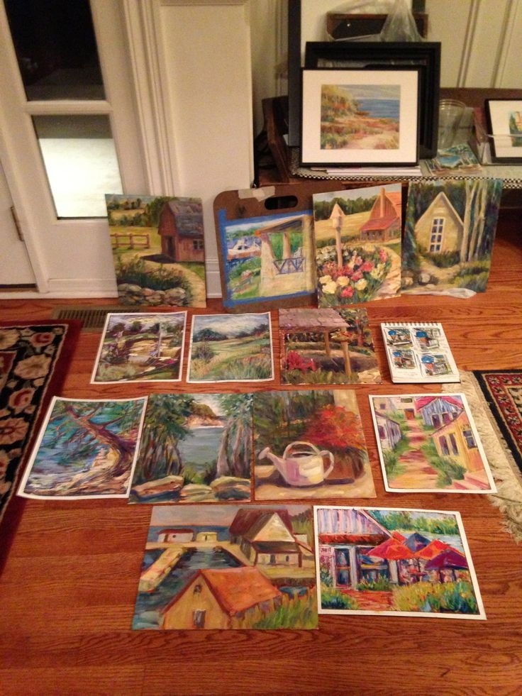 """How many painting can you create in 5 days? Plein air painting in Door County is so much fun to get """"creatively fired up"""""""