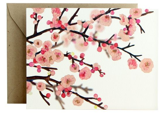 Cherry Blossoms Fold Note   15153