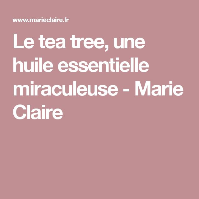 Le tea tree, une huile essentielle miraculeuse - Marie Claire