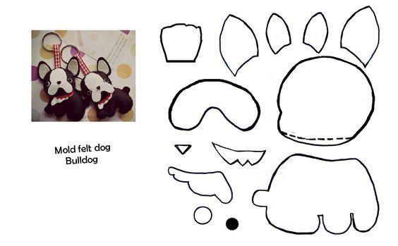 Cachorrinhos de feltro