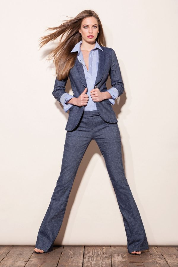 BARZINI giacca misto lino 1 bottone, FUGA camicia rigata m/l c/taschino, EAGLE pantalone zampa misto lino
