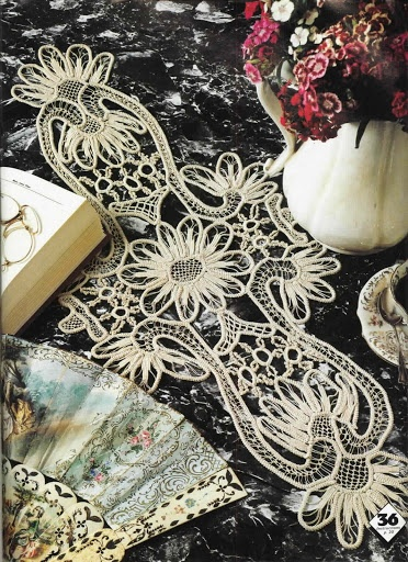 Romanian Point Lace in Magic Crochet magazine № 29. Picture of pattern here: http://pinterest.com/pin/53269208064614502/