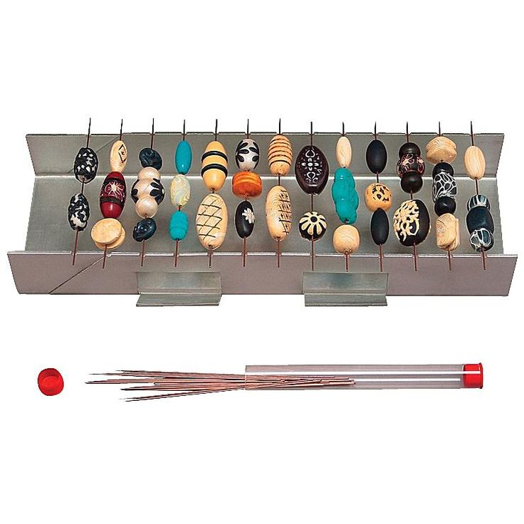 AMACO Bead Baking Stainless-Steel Rack With Bead Piercing Pins