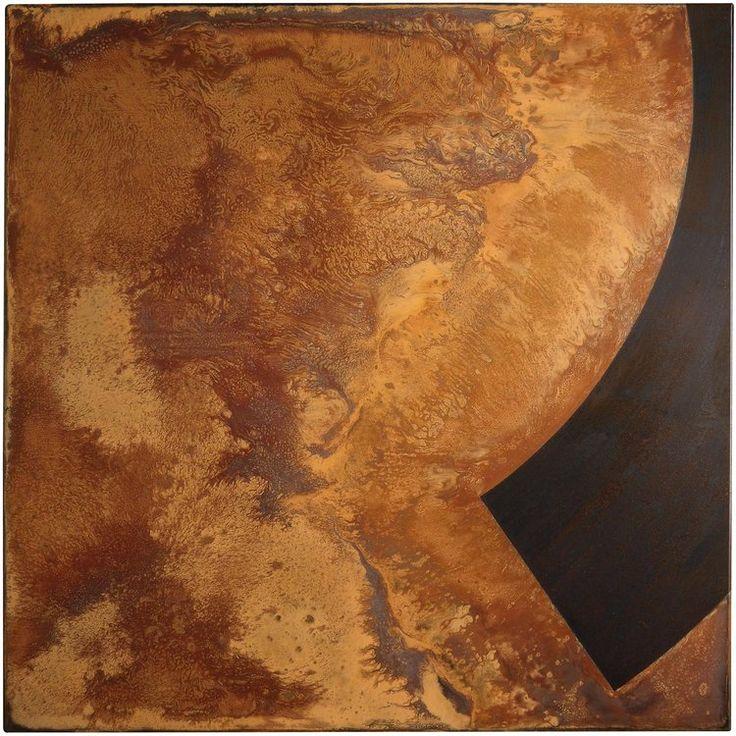 Rust Painting Lt 38 by Amer www.amer-art.com #rustpainting #rustart #amerrust