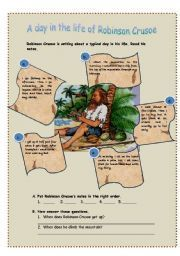 English teaching worksheets: Robinson Crusoe