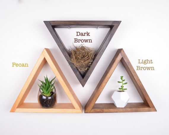 "Set of 3 Triangle Shelves | GRAINandGRIT // 12.5"" x 10.5"" x 3.5"" (x3)"