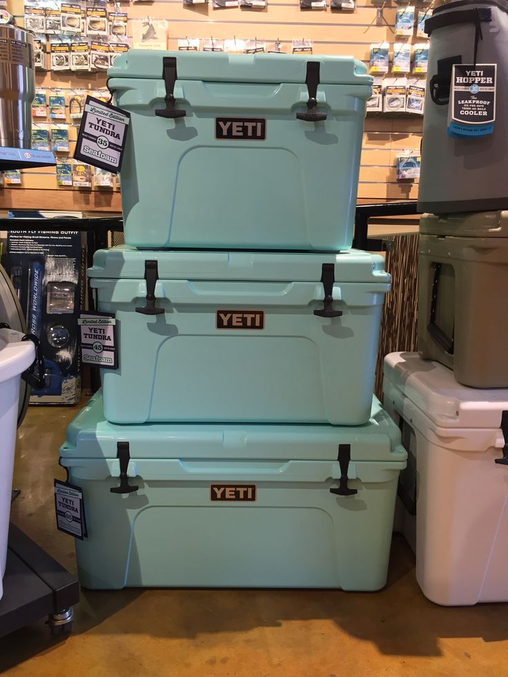 NEW Seafoam YETI Coolers   Fly South   Pinterest   Coolers ...