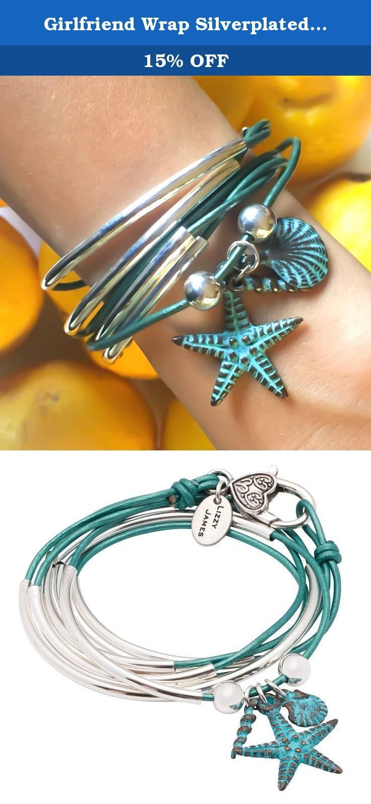 Girlfriend Wrap Silverplated 2 Strand Metallic Teal Leather Wrap Bracelet with Nautical Charm Trio (Petite). The Girlfriend Wrap in silverplate with Nautical charm trio is a 2 strand leather wrap bracelet & necklace. This wrap bracelet is handcrafted in the USA. Please click on our seller profile page to see proper sizing instructions. Sizing Information Measure your wrist with a string without slack to determine your size wrist. This measurement allows us to create a bracelet that will…