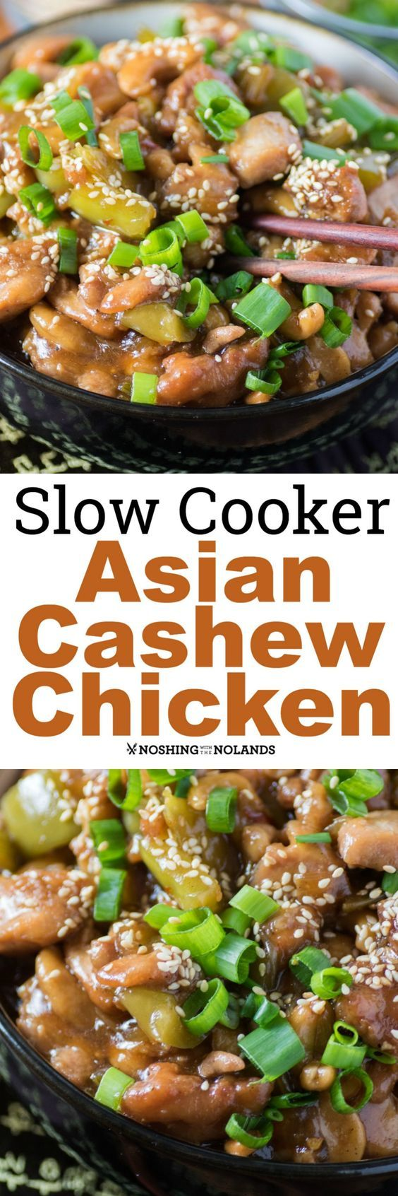 Slow Cooker Asian Cashew Chicken by Noshing With The Nolands is better than any takeout. You'll be making this for your family again and again. #ad