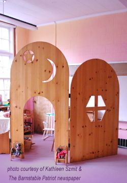 Organic Lazure Finishes for your home, school, church or community facility - these dividers would be excellent in the basement and in the classroom at church.