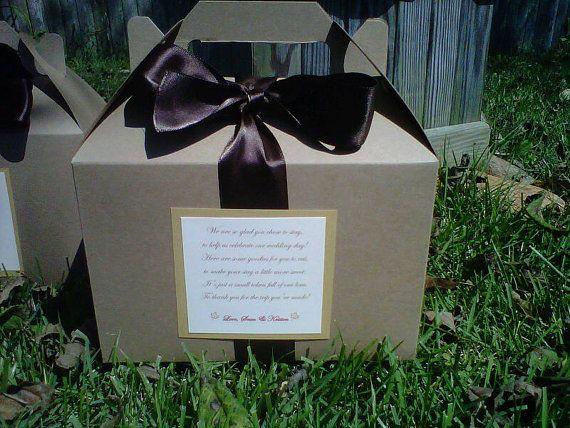 Hotel Wedding Guest Gift Bags: Wedding Hotel Welcome Bag/Box