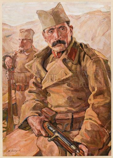Serbian infantrymen during World War I - 1916