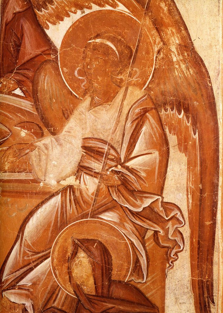 Правый ангел, церковь Спаса Преображения на Ильине улице, Феофан Грек, 1378 г.