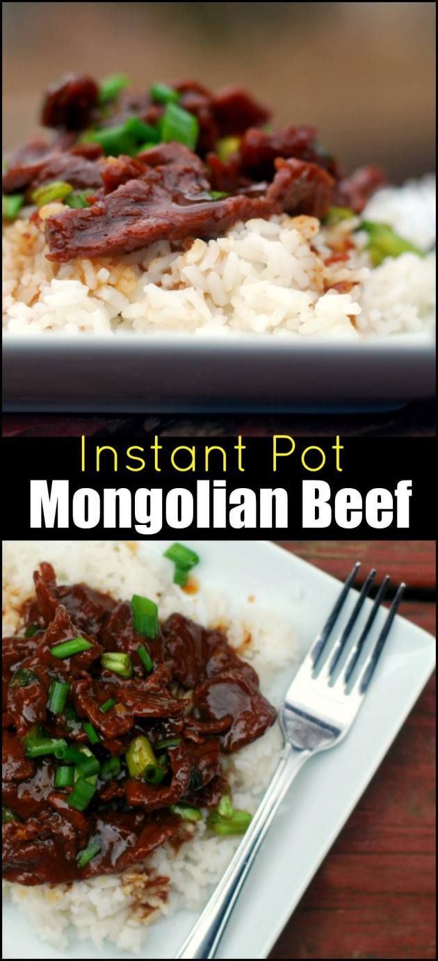 Instant Pot Mongolian Beef 2 lbs top sirloin or flank steak, trimmed of gristle and thinly sliced against the grain 2 Tbsp vegetable oil 1 tsp ginger, minced 2 to 3 cloves garlic, minced 1 cup LOW SODIUM soy sauce coconut aminos  1.5 cups dark brown coconut sugar 2 Tbsp cornstarch tapioca arrowroot   Rice,