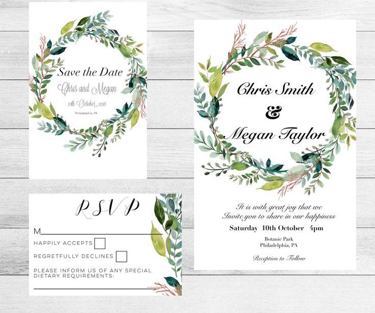 Excited to share the latest addition to my #etsy shop: Floral Wreath Wedding Invitation set.Printed Wedding Invitation set.Wedding Invite. Invitation. Wedding kit. Botanical Wedding Invitations. #weddings #invitation #white #pink #floralinvitations #printedinvitations #customisedwedding #weddinginvitations #botanicalwedding