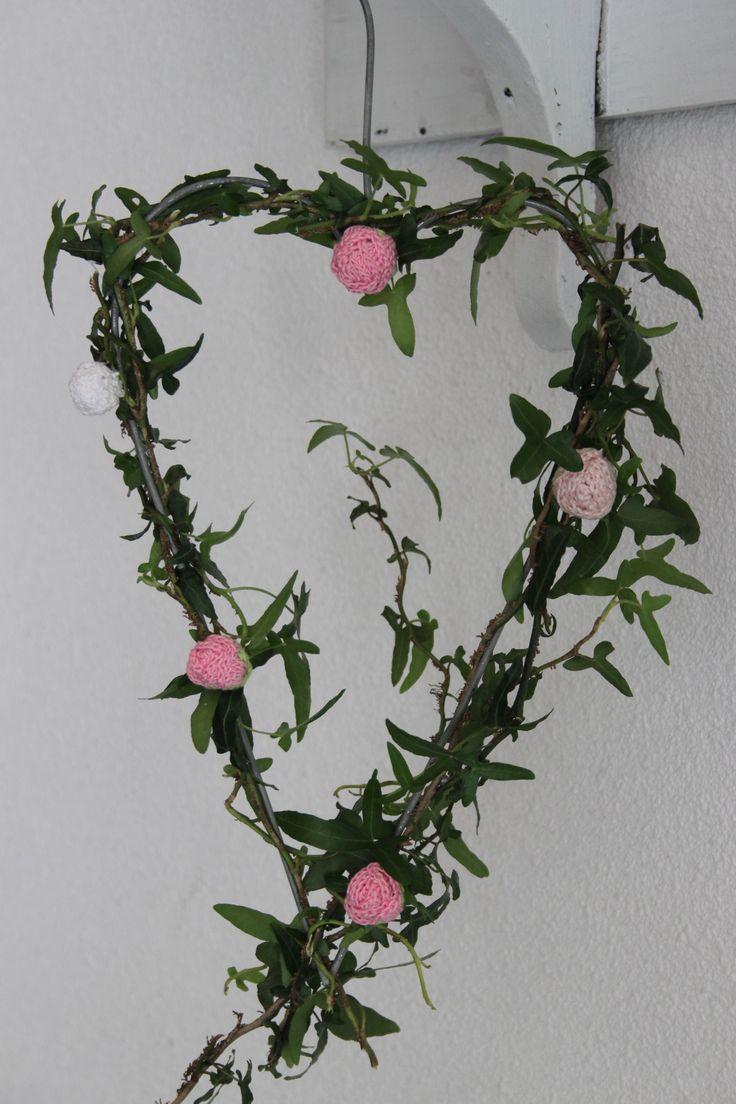Hart met rozenknopjes
