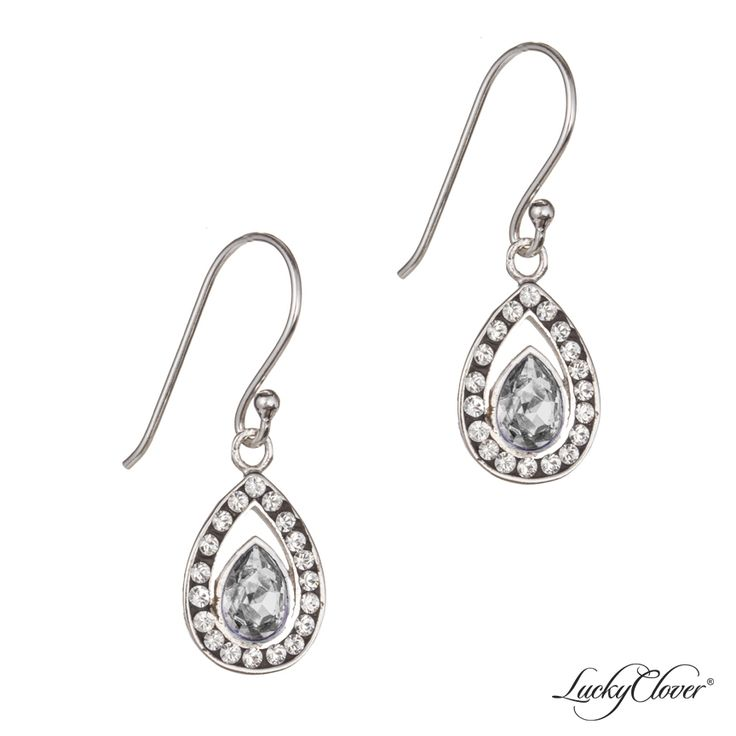 LuckyClover Jewelry - Viziare Crystal Antique Drop Earrings MADE WITH SWAROVSKI ELEMENTS, $52.00    Possible earrings?
