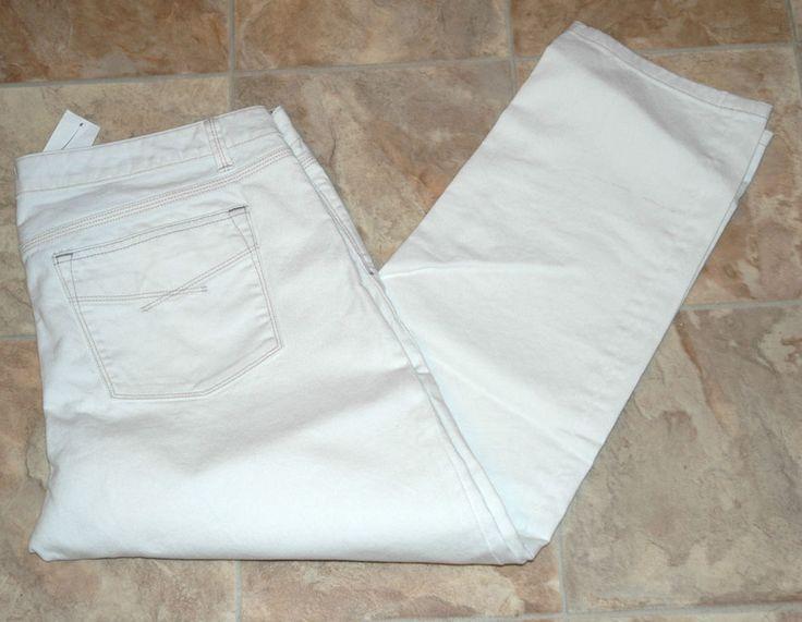 Gap Women's Straight Leg Jeans White Denim Size 33/16 $59.50 NWT #GAP #StraightLeg
