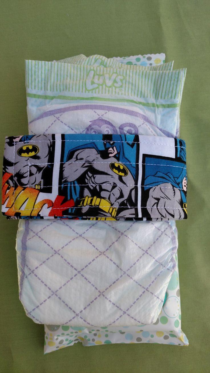 Batman Comic Strip Baby Diaper Holder Strap Great for Diaper Bag Organization by EllieAnnes on Etsy https://www.etsy.com/listing/252952386/batman-comic-strip-baby-diaper-holder