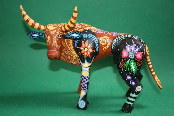 Alebrije ''Bull'' Mexican Oaxaca handpainted Woodcarving ...