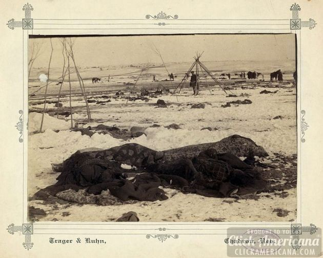 Big Foot's camp three weeks after the Wounded Knee Massacre