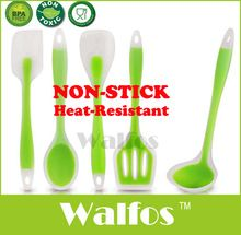 Quality Guarantee! 5pcs Non-Stick Silicone cooking tools utensils set Heat-Resistant  silicon kitchen utensils Cooking Set
