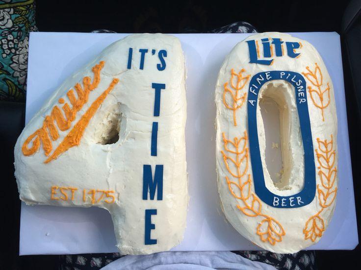 Miller lite birthday cake- 40