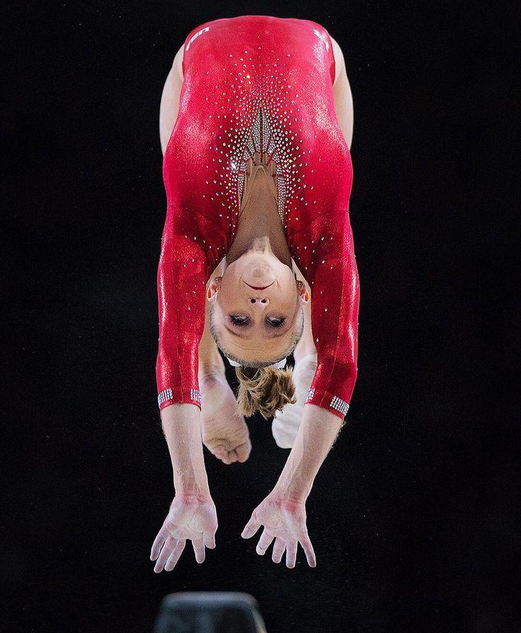 USAs Ragan Smith prepares to land on the Beam during the World Gymnastics Championships. Ragan Smith  #montreal #MTL2017GYM #sonya9 #a9 #sports #gymnastics #flip #flying #goingforold #ragansmith
