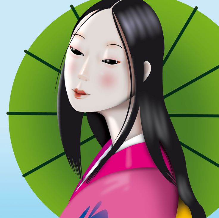 Noia japonesa. Carme Badia, Il·lustradora