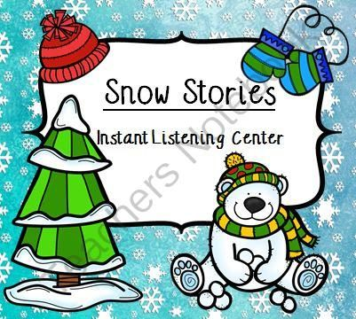 Instant Listening Center - Your students will love to hear the five stories told to them on their i-pod, i-pad, or tablet device..  A GIVEAWAY promotion for Instant Listening Center - SNOW!  QR Codes - Daily Five Center from Smart Teaching on TeachersNotebook.com (ends on 1-12-2014)