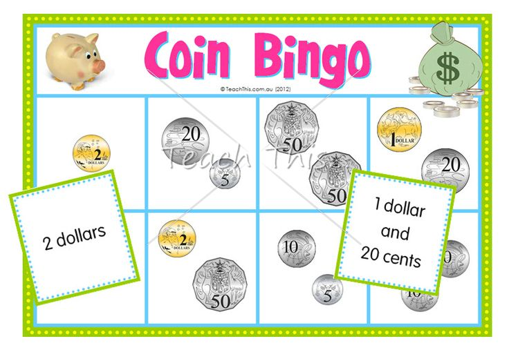 coin bingo fun math games for school dominoes bingo matching board games and more. Black Bedroom Furniture Sets. Home Design Ideas