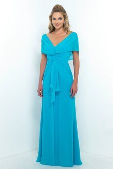 Bella Chiffon bridesmaid dress with gathered bodice detail, can be worn with or without sleeves.