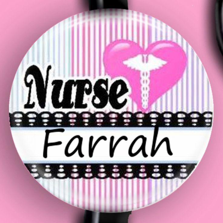 Nurse Stethoscope ID Tag Customizable Nurse Stethoscope Name Tag by sparklinghope on Etsy https://www.etsy.com/listing/248975249/nurse-stethoscope-id-tag-customizable