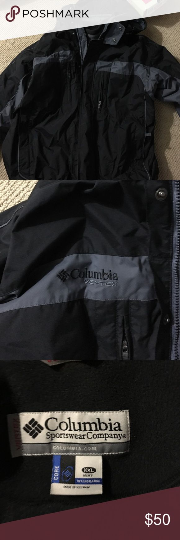 Men's Columbia jacket Black XXL Columbia interchange jacket Columbia Jackets & Coats
