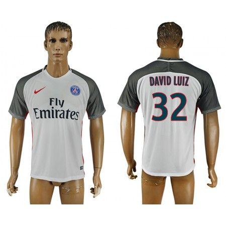 PSG 16-17 #David Luiz 32 3 trøje Kort ærmer,208,58KR,shirtshopservice@gmail.com