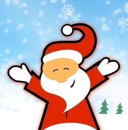 Vrolijke kerstkaart met kerstman. Grappige Cartoon-kerstkaarten. Kies een mooie kerstkaart, schrijf de tekst, en met een druk op de knop, verstuur je ze allemaal! http://www.kerstkaartensturen.nl/kerstkaarten/kerst-cartoons/