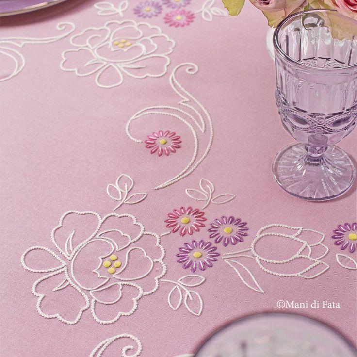 emiane di cotone disegnato per tovaglia con fiori a punti vari