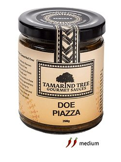 Doe Piazza......Doe Piazza means double or twice cooked onion. At different stages of the cooking process the onions are sautéed and caramelised then boiled. This medium spiced sauce has a distinct flavour of mint, ginger and tomato combined with freshly roasted spices. Great with beef or your choice of meat and vegetables. For something special try Duck Doe Piazza or for a classic saag dish add spinach.