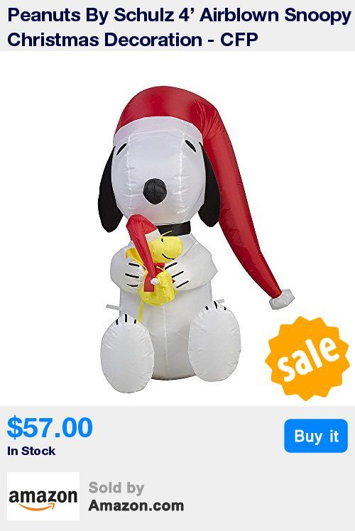 This 4' Airblown Snoopy Christmas Decoration is easy to set up and take down * It comes with stakes and tethers for your convenience * Easy to store, Snoopy deflates in seconds * This lawn ornament reduces to a compact size for off-season storage * Officially licensed merchandise * 18:14 Feb 1 2017