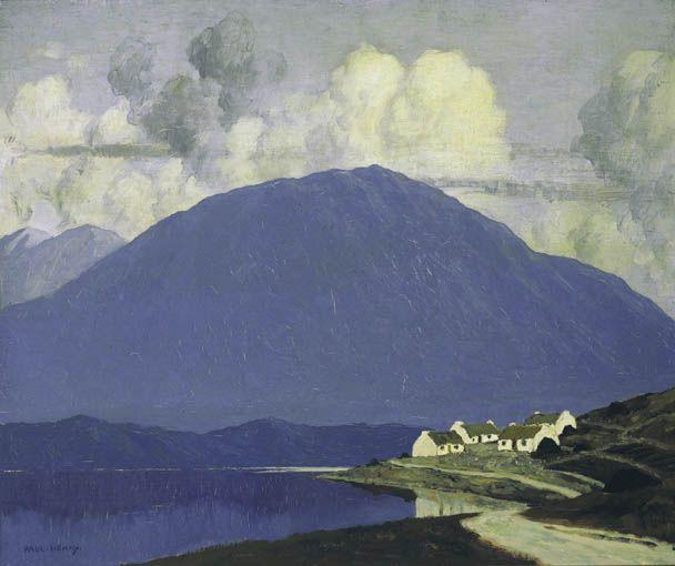 Paul Henry (Irish, 1876-1958). Connemara Landscape, c. 1916-19. Oil on canvas.