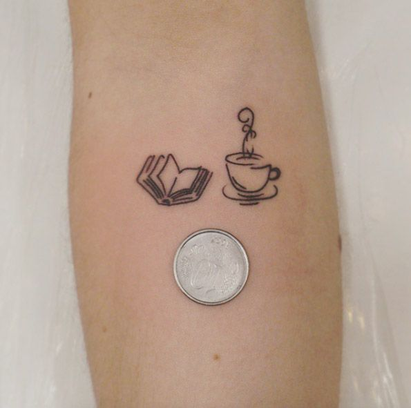 Tiny Book Tattoo by Felipe