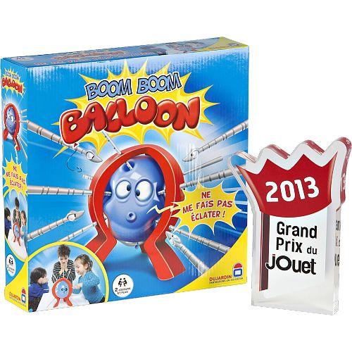 Des aiguilles, un ballon de baudruche, qui le fera éclater en premier ? Boom Boom Balloon a reçu le grand prix du jouet 2013.