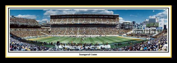 Pittsburgh Steelers poster Inaugural game at Heinz Field Pittsburgh Steelers vs. Cincinnati Bengals