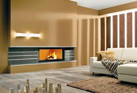 Hogar a le a moderno casas pinterest chimeneas for Hogares a lena modernos