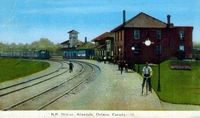 Canadian National Railway Station, Allandale (Part of modern day Barrie)
